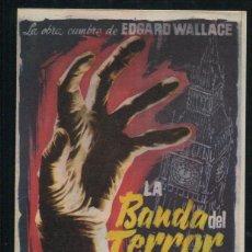 Cine: PROGRAMA DE CINE - LA BANDA DEL TERROR - EDGARD WALLACE. Lote 53379274
