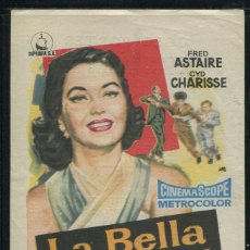 Cine: PROGRAMA LA BELLA DE MOSCU, FRED ASTAIRE, CYD CHARISSE, CON PUBLICIDAD. Lote 53380275
