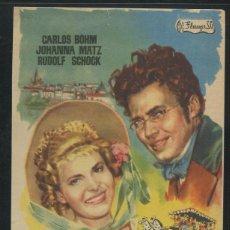 Foglietti di film di film antichi di cinema: PROGRAMA DE CINE. LA CASA DE LAS TRES MUCHACHAS. GRAFICAS VALENCIA.. Lote 53384823