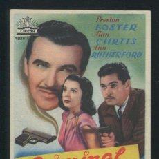 Cine: PROGRAMA CRIMINAL POR AMOR. PRESTON FOSTER, ALAN CURTIS, ANN RUTHERFORD.. Lote 53388748