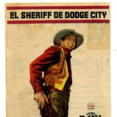 Cine: EL SHERIFF DE DODGE CITY. Lote 53393726