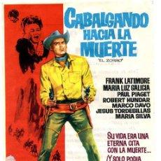 Cine: CABALGANDO HACIA LA MUERTE. Lote 53394330