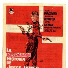 Cine: LA VERDADERA HISTORIA DE JESSE JAMES - ROBERT WAGNER. Lote 53394440