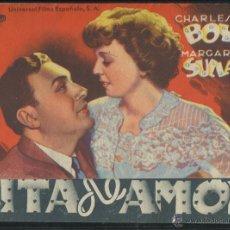 Cine: PROGRAMA CITA DE AMOR CHARLES BOYER & MARGARET SULLAVAN CON PUBLICIDAD. Lote 53396201