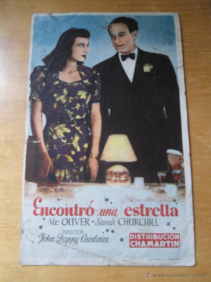 ANTIGUO PROGRAMA FOLLETO CINE - ENCONTRO UNA ESTRELLA (Cine - Folletos de Mano - Comedia)