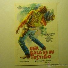 Cine: PROGRAMA UNA BALA ES MI TESTIGO- GASTON SANTOS-PUBLICIDAD GARNELO --CABRA????. Lote 53444010