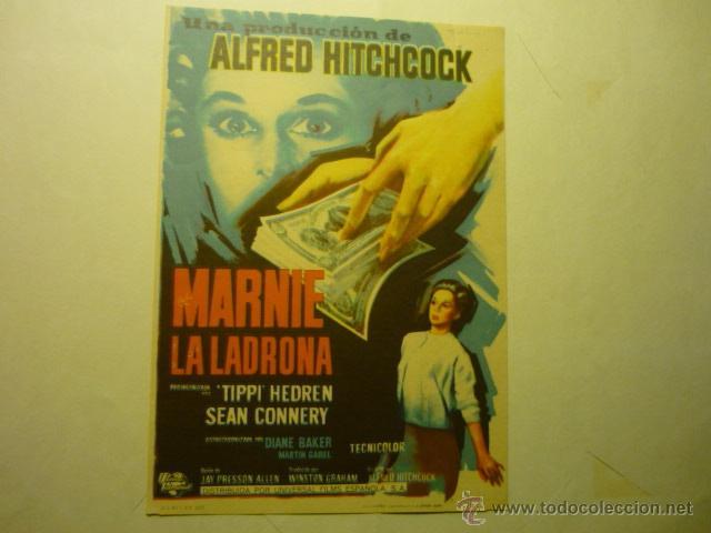 PROGRAMA MARNIE LA LADRONA.-SEAN CONNERY (Cine - Folletos de Mano - Suspense)