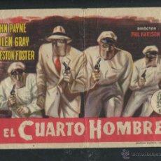Cine: PROGRAMA EL CUARTO HOMBRE, JOHN PAYNE, COLEN GRAY, PRESTON FOSTER,. Lote 53451139