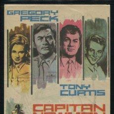 Cine: PROGRAMA CAPITAN NEWMAN - GREGORY PECK, TONY CURTIS - CON PUBLICIDAD. Lote 53451358