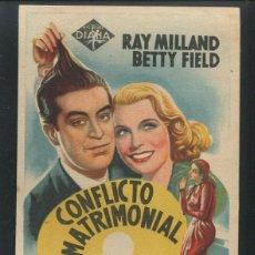 Cine: PROGRAMA CONFLICTO MATRIMONIAL. SENCILLO EXCLUSIVAS DIANA. Lote 53452030