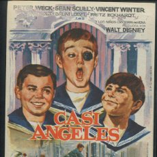Cine: PROGRAMA ORIGINAL CASI ANGELES - PETER WECK SEAN SCULLY WALT DISNEY. Lote 53452294