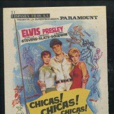 Cine: CHICAS CHICAS CHICAS PROGRAMA SENCILLO HISPAMEX ELVIS PRESLEY. Lote 53453804