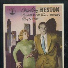 Cine: PROGRAMA CIUDAD EN SOMBRAS - CHARLTON HESTON . Lote 53459125
