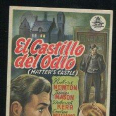 Cine: EL CASTILLO DEL ODIO PROGRAMA SENCILLO CIFESA JAMES MASON DEBORAH KERR ROBERT NEWTON NO ESTRENADA. Lote 53466871