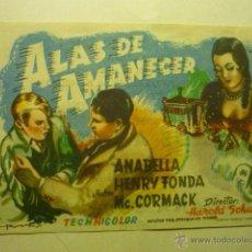 Cine: PROGRAMA ALAS DE AMANECER - ANABELLA- HENRY FONDA-PUBLICIDAD BB. Lote 53467937