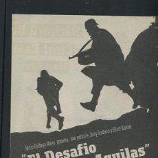 Cine: PROGRAMA EL DESAFIO DE LAS AGUILAS, IMPECABLE DOBLE, RICHARD BURTON CLINT EASTWOOD,. Lote 53480647