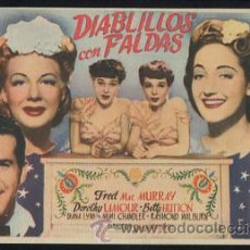 Cine: PROGRAMA DIABLILLOS CON FALDAS-GEORGE MARSHALL-FRED MAC MURRAY-DOROTHY LAMOUR-BETTY HUTTON-(1944). Lote 53482109