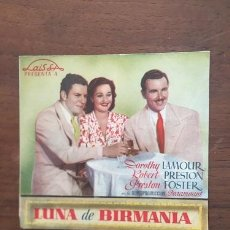 Cine: PROGRAMA DE MANO LUNA DE BIRMANIA. Lote 53482422
