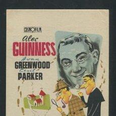 Cinema - PROGRAMA EL DETECTIVE R.HAMER-ALEC GUINNESS-JOAN GREENWOOD-CECIL PARKER-PIÑARA-(1954) CON PUBLICIDAD - 53482731