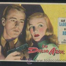 Cine: PROGRAMA LA DALIA AZUL - ALAN LADD, VERONICA LAKE - CON PUBLICIDAD. Lote 53484308