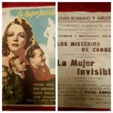 Cine: ANTIGUO FOLLETO DE MANO ORIGINAL /
