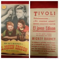 Cine: ANTIGUO FOLLETO DE MANO / MICKEY ROONEY EN EL JOVEN EDISON #2133. Lote 53490675