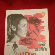 Cine: FOLLETO DE MANO 1967 / LA LEY DEL SUPERVIVIENTE CON ALEXANDRA STEWART Y MICHAEL CONSTANTIN #0959. Lote 53490698