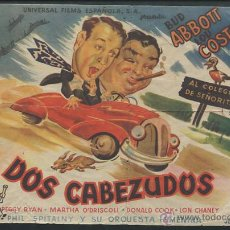 Cine: PROGRAMA DOS CABEZUDOS, CON BUD ABBOTT Y LOU COSTELLO.. Lote 53492462