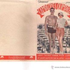 Cine: FOLLETO DE MANO CAMPEONES OLIMPICOS CON LARRY BUSTER CRABBE - IDA LUPINO -ROBERT ARMSTRONG JAMES . Lote 53524254