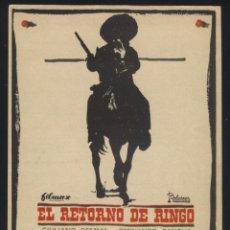 Cine: P-5981- EL RETORNO DE RINGO (IL RITORNO DI RINGO) (GIULIANO GEMMA - FERNANDO SANCHO - NIEVES NAVARRO. Lote 139683105