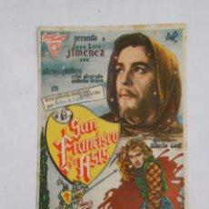 Cine: PROGRAMA FOLLETO MANO DE CINE DE LOGROÑO SAN FRANCISCO DE ASIS. JOSE LUIS JIMENEZ. FRONTON. TDKP6. Lote 53552794