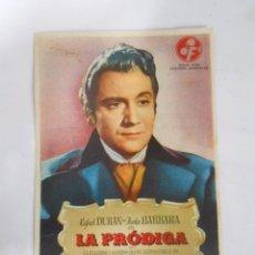 Cine: PROGRAMA FOLLETO MANO DE CINE DE LOGROÑO LA PRODIGA. RAFAEL DURAN. PAOLA BARBARA OLYMPIA. TDKP6. Lote 53552834