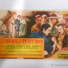 Cine: PROGRAMA FOLLETO MANO DE CINE DE LOGROÑO. LA CANCION DEL PLATEADO. ALHAMBRA. TDKP6. Lote 53552928