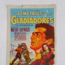 Cine: PROGRAMA FOLLETO MANO DE CINE DE LOGROÑO DEMETRIUS Y LOS GLADIADORES. OLYMPIA. TDKP6. Lote 53553602