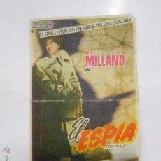 Cine: PROGRAMA FOLLETO MANO DE CINE DE LOGROÑO EL ESPIA. RAY MILLAND. RITA GAM. TEATRO MODERNO. TDKP6 . Lote 53568889