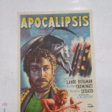Cine: PROGRAMA FOLLETO MANO DE CINE DE LOGROÑO APOCALIPISIS. LIDIA LANDI. VERA BERGMAN TDKP6 . Lote 53568928