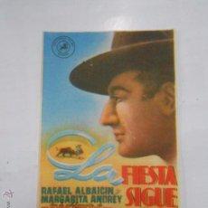 Cine: PROGRAMA FOLLETO MANO DE CINE LA FIESTA SIGUE. RAFAEL ALBAICIN. MARGARITA ANDREY. TDKP6 . Lote 53568942