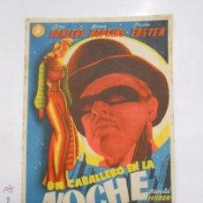 Cine: PROGRAMA FOLLETO MANO DE CINE DE LOGROÑO UN CABALLERO EN LA NOCHE. BRIAN DONLEVY CINEMA DIANA TDKP6 . Lote 53568956