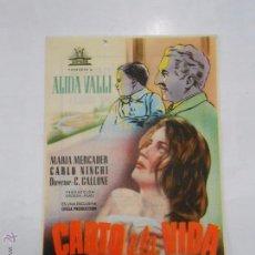 Cine: PROGRAMA FOLLETO MANO DE CINE DE LOGROÑO CANTO A LA VIDA. LAZOS HUMANOS. FRONTON CINEMA. TDKP6 . Lote 53568990