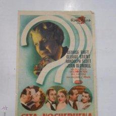 Cine: PROGRAMA FOLLETO MANO DE CINE DE LOGROÑO CITA EN NOCHEBUENA. GEORGE RAFT. CINEMA DIANA. TDKP6 . Lote 53569047