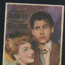 Cine: PROGRAMA EL ENEMIGO DE LAS MUJERES - STEWART GRANGER, EDWIGE FEUILLERE - CON PUBLICIDAD. Lote 53576380