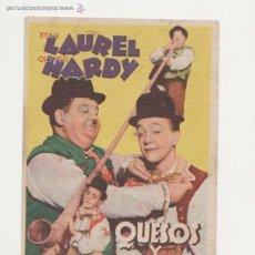 Cine: QUESOS Y BESOS. PROGRAMA TARJETA DE MGM. CINE VICTORIA - SEVILLA 1941.. Lote 53587133