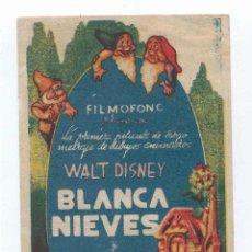 Cine: FOLLETO DE MANO - BLANCA NIEVES Y LOS SIETE ENANITOS.REESTRENO SEVILLA SALÓN IMPERIAL AÑO 1942. Lote 53593164