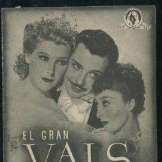 Kino - PROGRAMA EL GRAN VALS. LUISE RAINER, FERNAND GRAVET, DOBLE, PUBLICIDAD - 53594263