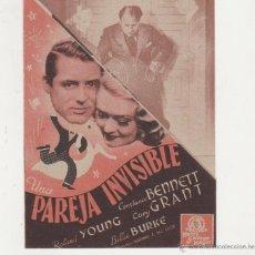 Cine: UNA PAREJA INVISIBLE. DOBLE TROQUELADO DE MGM. MÁLAGA CINEMA 1940.. Lote 53597757