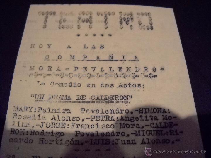 ANTIGUA PUBLICIDAD DE OBRAS DE TEATRO,COMPAÑIA MORA-PEVALENDRO (Cine - Folletos de Mano - Clásico Español)