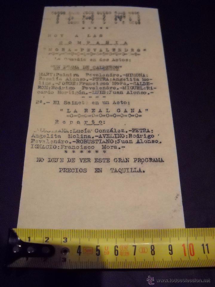 Cine: ANTIGUA Publicidad de obras de teatro,COMPAÑIA MORA-PEVALENDRO - Foto 2 - 53602572