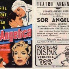 Cine: FOLLETO DE MANO SOR ANGELICA . TEATRO ARGENSOLA ZARAGOZA. Lote 53614817