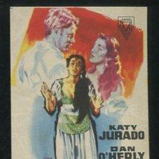 Cine: PROGRAMA INFIERNO EN EL PARAISO, IMPECABLE SENCILLO DE JANO, KATY JURADO DAN O'HERLY, NO ESTRENADA. Lote 53615240
