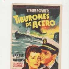 Cine: TIBURONES DE ACERO. SENCILLO DE 20TH CENTURY FOX. ¡IMPECABLE!. Lote 53632230